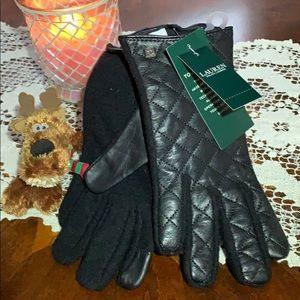 """RALPH LAUREN wool """"touch gloves"""" /NWT/ sz SM"""